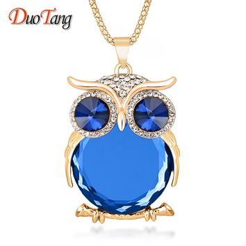 Fashion Trendy Owl Pendant Necklace