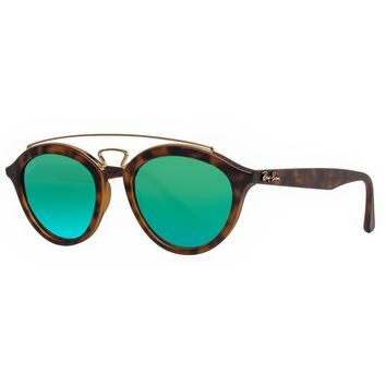 Ray Ban RB4257 60923R 50mm Gatsby II Tortoise Brown Green Mirror Sunglasses