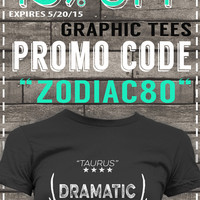 ZODIAC Graphic Tee T-shirt SALE 15% OFF Coupon ZODIAC80