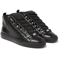 Balenciaga - Arena Creased-Leather High Top Sneakers | MR PORTER