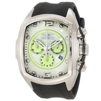 Invicta 10064 Men's Lupah Revolution Green Accents White Dial Chronograph Watch