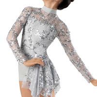 Sequin Lace Side Bustle Biketard -Weissman Costume
