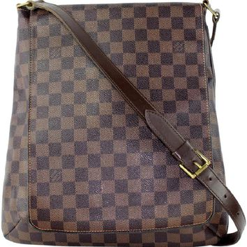 Louis Vuitton 4234 Damier Ebene Musette (Authentic Pre-owned)