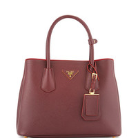 Prada Saffiano Leather Small Double Bag