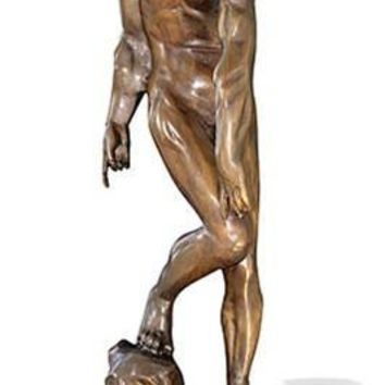 Adam from Gates of Hell by Rodin, Bronze Metal with Marble Base 21.75H