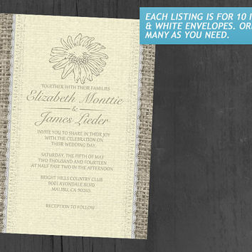 Yellow Vintage Lace Wedding Invitations | Invites | Invitation Cards