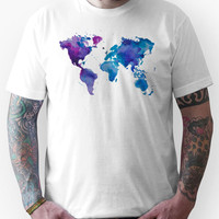 Watercolor Map of the World (t-shirt) Unisex T-Shirt