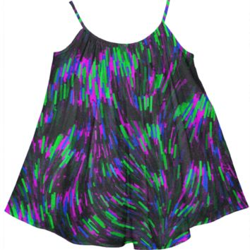 Silly String Abstract Pattern Girl's Tent Dress
