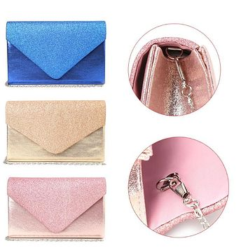THINKTHENDO Fashion Women Lady Wallet Clutch Shoulder Bag Bridal Evening Party Chain Handbag Purse 3 Color