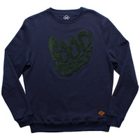 Altru Apparel Good Vibes Melt sweatshirt with chenille patch