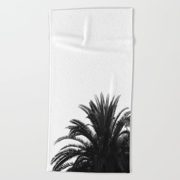 Palm tree Beach Towel by ARTbyJWP