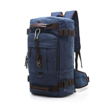 vintage men's backpacks rucksack canvas shoulder bags luggage travel backpack bag  FE01