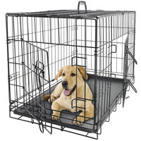 Pet Kennel Cat Dog Folding Steel Crate Playpen Wire Metal Cage