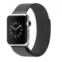 Luxury For Apple Watch Band Milanese Loop magnetic stainless steel With Adapter