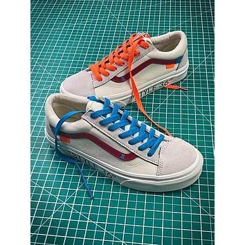 Off White X Vans Vault Og Style 36 Style 4 Low Canvas Shoes