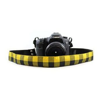 Buffalo Plaid Yellow 1.5In Camera Strap - Capturing Couture - CASLR15-BFOY