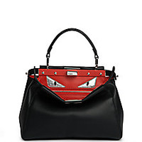 Fendi - Peekaboo Mini Monster Leather Satchel - Saks Fifth Avenue Mobile