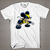 Mickey X-Men Disney Marvel Mashup  Mens and Women T-Shirt Available Color Black And White