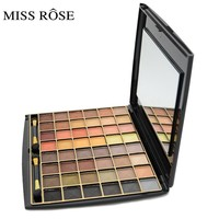 Miss Rose Cosmetic Makeup New 48 Colors Eyeshadow Pallete Matte Earth Color Eye Shadow Makeup Professional For Women With Brush