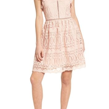 J.O.A. Lace Fit & Flare Dress | Nordstrom