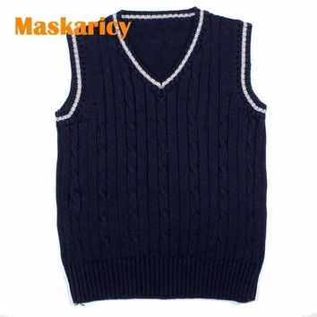 Boys Cable Knit Vest