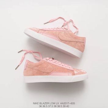 [ Free  Shipping ] Womens Nike Blazer Low LX Fashion Week Pink AA2017-605   Running   Sneaker