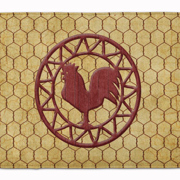 Rooster Chicken Coop Machine Washable Memory Foam Mat SB3085RUG