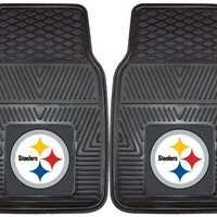 FANMATS NFL Pittsburgh Steelers Vinyl Heavy Duty Car Mat