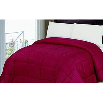 Ben&Jonah Designer Plush Twin (66 inch  x 86 inch ) 1 Piece Embossed Comforter - Chocolate