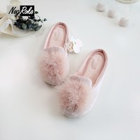 Ice Cotton mirco velvet shoes woman slippers women Slippers fenty slides pantufa rubbe