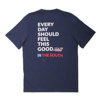 Custom Everyday Should Feel This Good in The South Tee in Blue Blazer by Vineyard Vines