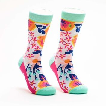 Woven Pear - Love Is In Bloom Socks