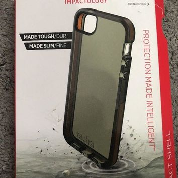 GENUINE IPHONE 5 5S TECH21 IMPACT SHELL CASE COVER with D3O T21-3569 | SMOKEY