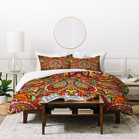 Aimee St Hill Paisley Orange Duvet Cover