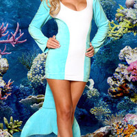 Darling Dolphin Costume, Sexy Dolphin Costumes, Adult Dolphin Costume, Dolphin Halloween Costume