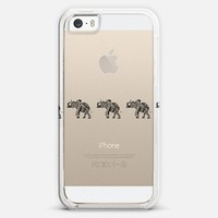 THREE ELEPHANTS BLACK Crystal Clear iPhone 5s case by Monika Strigel | Casetagram