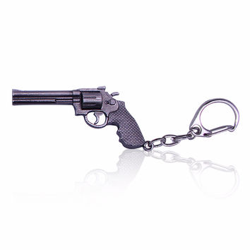 2016 Hot Game  Weapon Gun Key Chains Cool  Metal Pistol Keychain Key Rings For Men 3D Metal Model Chaveiros