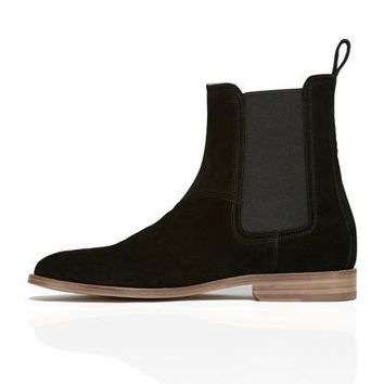 Wakeby Wolf Finesse Black Chelsea Suede Boots