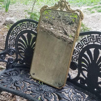 Antique Victorian Gold Baroque Frame Wall Mirror