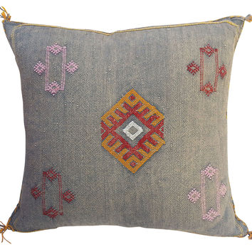 Faded Indigo Berber Pillow
