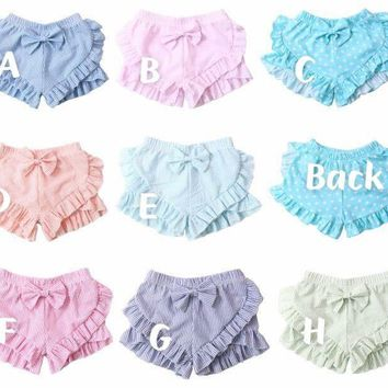 Double Ruffle Seersucker Shorts *Preorder 0879* Closes 03.24.18 8pm ETA 6/8wks