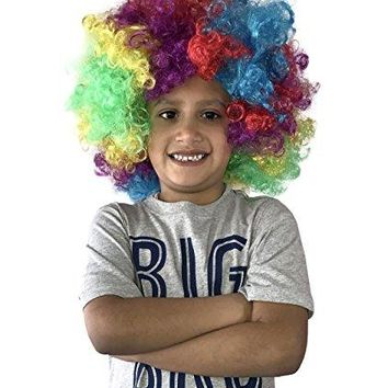 Clown Wig - Rainbow Wig - Costume Party Accessories - Unisex