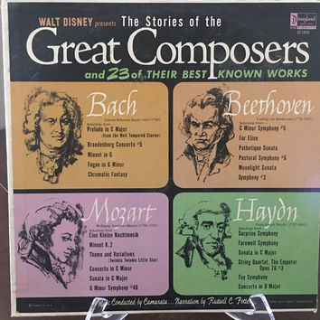 BACH BEETHOVEN MOZART HAYON The Stories of the Great Composers 1963 Disney LP