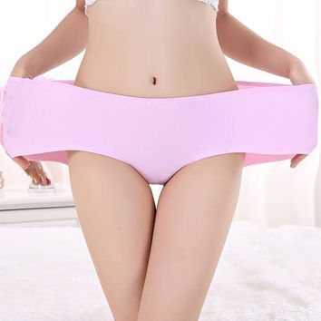 VONETDQ Free shipping Women Panties Ice-silk No trace One-piece female Underpants large plus size woman Briefs underwear S-XXXL  P39