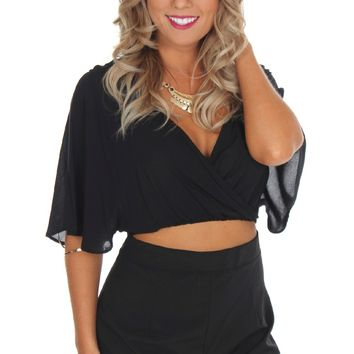 Sneak Peek Romper Black
