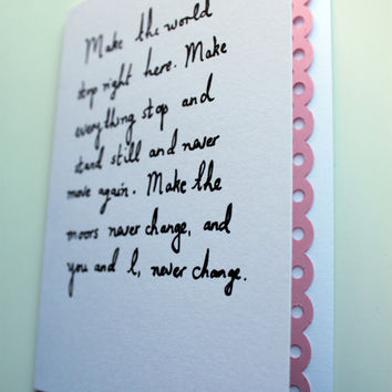 Valentine card  Wuthering Heights quote by Mr Teacup by MrTeacup