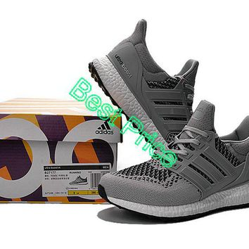 2018 Factory Authentic adidas Ultra Boost 2015 2016 PrimeKnit Metallic Silver Cool Grey sneaker