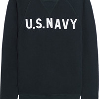 NLST - U.S. NAVY cotton-terry sweatshirt