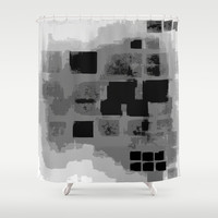 Seven Pixels Shower Curtain by T30 Gallery