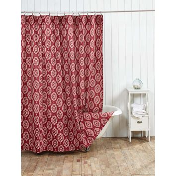 Paloma Crimson Shower Curtain